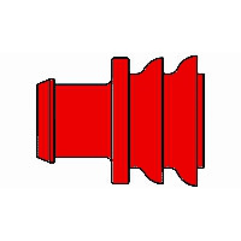 AMP 281934-3 Superseal Einzeladerdichtung, 2,6 - 3,3 mm, rot