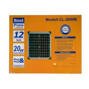 WT Solarmodul Mono 20Wp 20V