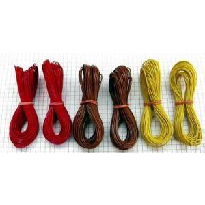 6 x 10m Kupferlitze LIYv 0,14 mm² braun / rot / gelb