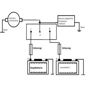 Trenndiode Ladestromverteiler Batterie Isolator 70 Ampere