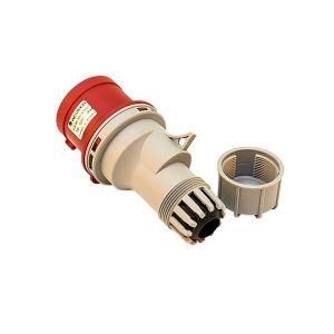 CEE Stecker / Plug 32A - 380/400V - 5-pol. 6h - IP44 rot/grau