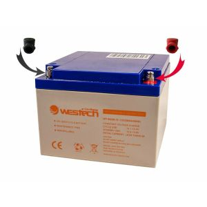 Batteriepol Set Adapter und Schutzkappen M8