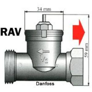 LUPUSEC - Heizkörperadapter für Danfoss RAV-Ventile