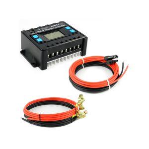 Solar Set 30A Laderegler Kabel für 3 Solarmodul Photovoltaik Inselanlage