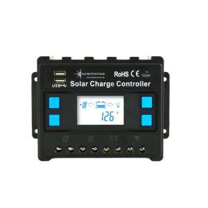 Komplettset 3x100 Watt Monokristallin 5-Busbars 20A Laderegler 12V / 24V Kabel