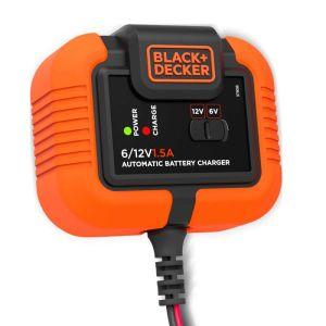 Black + Decker Multifunktions-Ladegerät 6V & 12V 1,5A für Blei-Akkus IP20