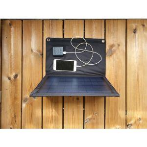 Solarmodul mono faltbar 20W mit USB und DC Anschluss