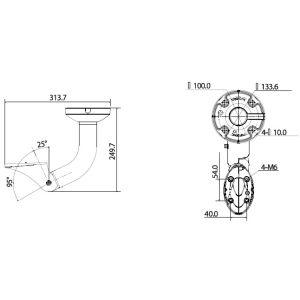 Deckenhalterung für Wetterschutzgehäuse LE562