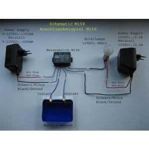 Kemo M158 Wassermelder 9 - 12 V/DC
