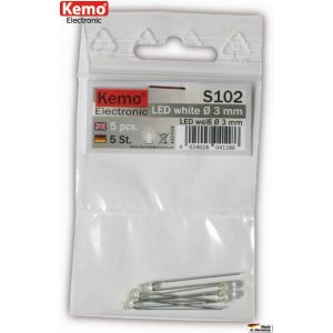 Kemo S102 LED weiß Ø 3mm 5 Stück